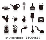 black household icons | Shutterstock .eps vector #95004697