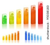vector bar graphs | Shutterstock .eps vector #95038183