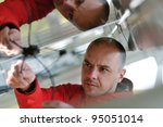 male engineer at work place ...   Shutterstock . vector #95051014