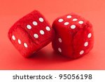 red dices isolated on red... | Shutterstock . vector #95056198
