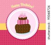 happy birthday greeting card | Shutterstock .eps vector #95068726