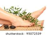 beautiful slim woman's legs...   Shutterstock . vector #95072539