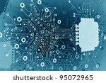 circuit board.background high... | Shutterstock . vector #95072965