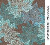vector illustration of leaves.  ... | Shutterstock .eps vector #95080531