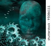 surreal mask and fractals as...   Shutterstock . vector #95086111