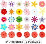 a collection of vector  flowers ... | Shutterstock .eps vector #95086381