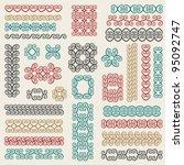 vector set  frames borders... | Shutterstock .eps vector #95092747
