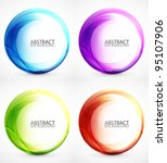 vector swirl set | Shutterstock .eps vector #95107906