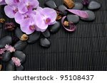 branch pink orchid with stones... | Shutterstock . vector #95108437