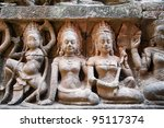 detail of carvings in angkor... | Shutterstock . vector #95117374