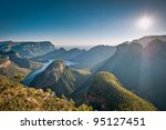 morning sunlights baths the... | Shutterstock . vector #95127451