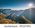 morning sunlights baths the... | Shutterstock . vector #95127451