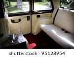 luxury wedding car interior | Shutterstock . vector #95128954