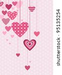 decorative hearts | Shutterstock .eps vector #95135254