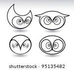 isolated owls head   vector... | Shutterstock .eps vector #95135482