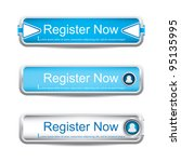 shiny blue register now button... | Shutterstock .eps vector #95135995