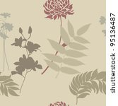 floral seamless pattern for... | Shutterstock .eps vector #95136487