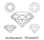 diamonds wireframe on white... | Shutterstock .eps vector #95142637