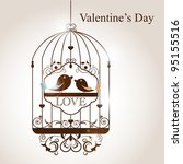 st. valentine's day greeting... | Shutterstock .eps vector #95155516