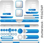 web designing element set | Shutterstock .eps vector #95162569