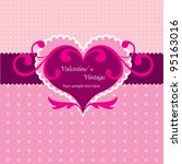 valentine vintage heart | Shutterstock .eps vector #95163016
