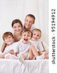 happy family with children in... | Shutterstock . vector #95194912