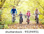 the family in the park on... | Shutterstock . vector #95194951