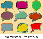 vintage speech bubbles on the... | Shutterstock .eps vector #95199565