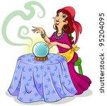 cartoon fortune teller with her ...   Shutterstock .eps vector #95204095