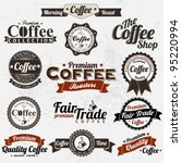 set of vintage retro coffee... | Shutterstock .eps vector #95220994