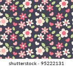 Spring Cute Flowers Seamless...