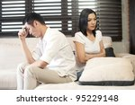 asian couple unhappy | Shutterstock . vector #95229148