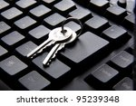 computer keyboard and key | Shutterstock . vector #95239348