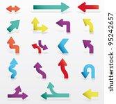 vector arrows set | Shutterstock .eps vector #95242657