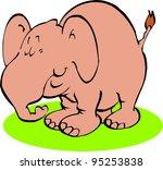 relaxed elephant | Shutterstock .eps vector #95253838