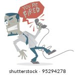 a man bing fired over the phone | Shutterstock .eps vector #95294278