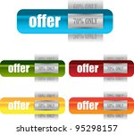 colorful web element for sale... | Shutterstock .eps vector #95298157