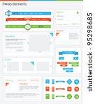Website design elements web navigation buttons retro vintage style