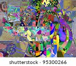 abstract digital painting ... | Shutterstock . vector #95300266