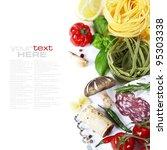 italian food. ingredients for... | Shutterstock . vector #95303338