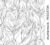 vector illustration of tulips.  ... | Shutterstock .eps vector #95315734