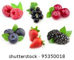 Collage from berries - stock photo