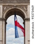 arc de triomphe detail and... | Shutterstock . vector #95373469