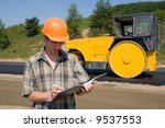 the road inspector on a working ... | Shutterstock . vector #9537553
