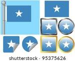 flag set somalia | Shutterstock .eps vector #95375626