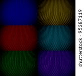 set of colorful dark abstract...   Shutterstock . vector #95387119