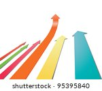 vector of colorful arrow ahead... | Shutterstock .eps vector #95395840