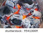 Coal And Wood Ash Burning In An ...