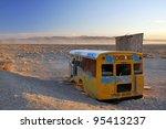 Broken Abandoned School Bus In...