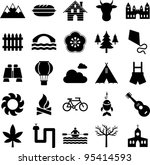 icons of nature  mountain and... | Shutterstock .eps vector #95414593